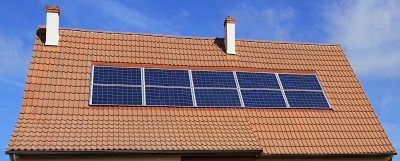 Picture of solar panels on the roof of a house.