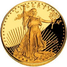 Picture of a proof American Gold Eagle.